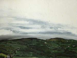 View of Oswaldtwistle by John Virtue. From collection at Blackburn Museum and Art Gallery.